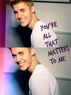 No words could ever explain how much I love Justin. Nothing I could do could express what he means to me. Only Beliebers can know how much I love and care for Justin. And even then, I can use words to explain it. Everyday I love this boy, growing into a man, more and more. And I know i always will. ;)