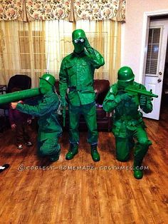 Green Plastic Army Toy Soldier Group Halloween Costume... This website is the Pinterest of costumes