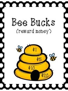 You can use these bee bucks for rewards in the classroom! Print a few of each amount and laminate for durability. Then pass out and have your kids turn in for rewards after they've earned a certain amount! Perfect for a bee themed classroom! Behavior Board, Work Bulletin Boards, Bee Theme, Busy Bee, Early Childhood Education, School Organization, Infant Activities, Classroom Themes, Back To School
