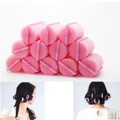 12Pcs+Magic+Sponge+Foam+Cushion+Hair+Styling+Rollers+Curlers+Twist+Tool++db