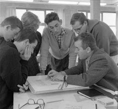 """Die Geschichte, Leistung und Bedeutung der von Otl Aicher (Foto), Inge Scholl und Max Bill gegründeten Hochschule für Gestaltung Ulm werden """"Von der Stunde Null bis 1968"""" erklärt"""