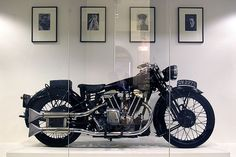 The motorcycle ridden by T. E. Lawrence (Lawrence of Arabia).