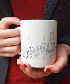 Harry Potter Inspired Hogwarts Wrap-around Ceramic Mug