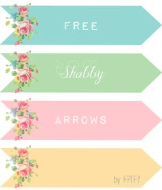 Free Vintage Digital Rose Arrows and Wreaths
