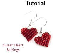 Sweet Heart Earrings Beading Tutorial