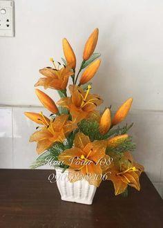 Nylon Flowers, Wire Flowers, Cloth Flowers, Satin Flowers, Felt Flowers, Colorful Flowers, Fabric Flowers, Paper Flowers, Ikebana Flower Arrangement