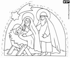 the holy family near bethlehem coloring page
