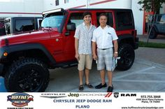"https://flic.kr/p/srkvyY | #HappyAnniversary to Ray and Armon Naeini on your 2014 #Jeep #Wrangler Unlimited from Ruben Perez at Huffines Chrysler Jeep Dodge RAM Plano! | <a href=""http://www.huffineschryslerjeepdodge.com/?utm_source=Flickr&utm_medium=DMaxxPhoto&utm_campaign=DeliveryMaxx"" rel=""nofollow"">www.huffineschryslerjeepdodge.com/?utm_source=Flickr&...</a>"