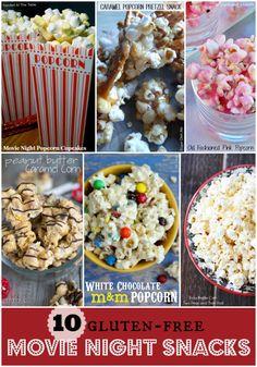 10 Movie Snack Recipes {gluten-free}