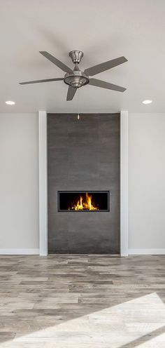 This fireplace takes center stage! Family room and fireplace design ideas from C. This fireplace takes center stage! Family room and fireplace design ideas from Candlelight Homes, w Linear Fireplace, Old Fireplace, Bedroom Fireplace, Modern Fireplace, Fireplace Surrounds, Fireplace Design, Fireplace Ideas, Brick Fireplace Makeover, Gas Fireplace Inserts