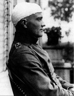Manfred Von Richthofen convalescing after being wounded.