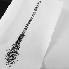 Witches broom draw up #linework #witchesbroom #tattoo #tattooapprentice #yyc #yyctattoo @bigjohnsonink