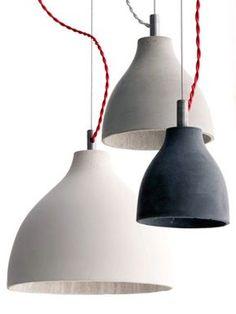 Heavy light pendant, Concrete pendants - Holloways of Ludlow