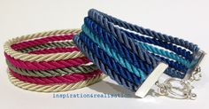 inspiration and realisation: DIY Fashion + Home: DIY easy rope bracelets - these are so pretty Jewelry Crafts, Handmade Jewelry, Collars, Armband Diy, Do It Yourself Fashion, Swarovski Crystal Earrings, Diy Schmuck, Diy Necklace, Diy Fashion