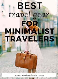 There is little more annoying that lugging a heavy bag around with you when you travel. That's why we've composed a list of the Best Travel Gear for Minimalist Travelers which is exactly what we use to save hundreds of dollars on travel and travel like a minimalist! Click through for our minimalist packing list and gear recommendations for travel! #minimalist #travellifestyle #minimalisttravel #packinglist