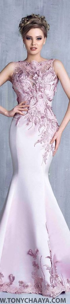 Pink Wedding gown by Tony Chaaya couture 2016 Stunning Dresses, Beautiful Gowns, Elegant Dresses, Pretty Dresses, Beautiful Outfits, Gorgeous Dress, Evening Dresses, Prom Dresses, Formal Dresses