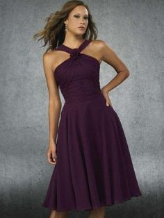 A-line Halter  Ruffles  Sleeveless Knee-length  Chiffon Grape Cocktail Dress _ Homecoming Dress. br_Product NameA-line Halter  Ruffles  Sleeveless Knee-length  Chiffon Grape Cocktail Dress _ Homecoming Dressbr_br_Weight2kgbr_br_ Start From1 Unitbr_br_ Hemline _ TrainKnee-lengthbr_br_Sleeve LengthSl.. . See More A-line at http://www.ourgreatshop.com/A-line-C978.aspx