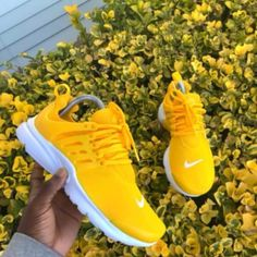 brand new e4e03 e272b HOLY CRAP PLEASE THIS ARE SO PRETTY Yellow Nikes, Yellow Sneakers, Yellow  Shoes Heels
