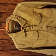 Vintage Gap Leather jacket Cream colored leather jacket GAP Jackets & Coats