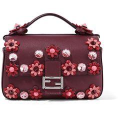 8e30b03e1d2d Fendi Double Baguette micro appliquéd leather shoulder bag ( 2
