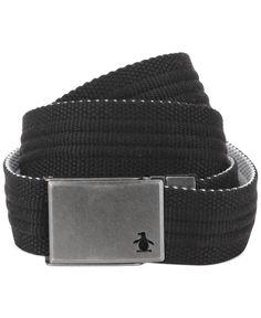 aedbbd999b7 Penguin Solid Color Reversible Web Belt   Reviews - All Accessories - Men -  Macy s