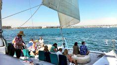 Aolani Catamaran Sailing with live music 48 guest max  http://www.aolani.cc San Diego, CA