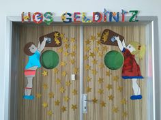KAPI Classroom Board, Classroom Walls, Classroom Decor, School Door Decorations, Class Decoration, Classroom Activities, Activities For Kids, School Doors, Teaching Aids