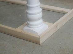 DIY farm house table frame