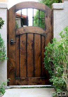 Dynamic Garage Door   Designer Pedestrian Gate : Architectural Gates & garden fence plans   Wooden fence gates such as this are sometimes ... Pezcame.Com