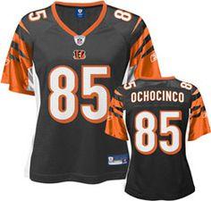 Chad Ochocinco Black Reebok NFL Replica Cincinnati Bengals Women's Jersey $49.99 http://www.fansedge.com/Chad-Ochocinco-Black-Reebok-NFL-Replica-Cincinnati-Bengals-Womens-Jersey-_999699951_PD.html?social=pinterest_pfid64-20862