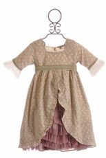 Pewter and Plum Ruffle Dress - Floral Cotton Dress