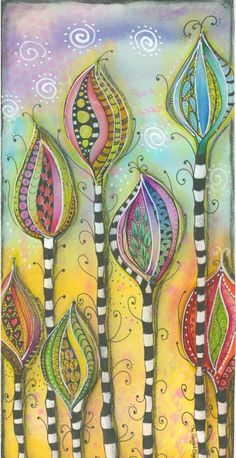 Abstract flower doodle on a sunny afternoon - Abstractedly Yours