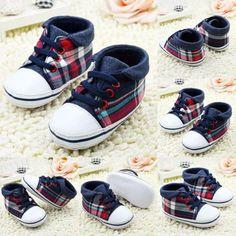 Infant Canvas Soft Sole Crib Shoes | Furrple