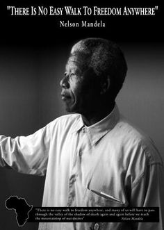 Mandela spent nearly 30 years in prison, branded a terrorist & traitor by South Africa's Apartheid government. Much of that time, between 1968 - 1982, was spent on Robben Island where he was made to do forced labor including breaking rocks into gravel. While there he was permitted just 1 visitor a year,could  write or receive 1 letter every 6 mos. Despite those limits on communication, he completed a law degree, organized protests within the prison & helped lead the movement against…