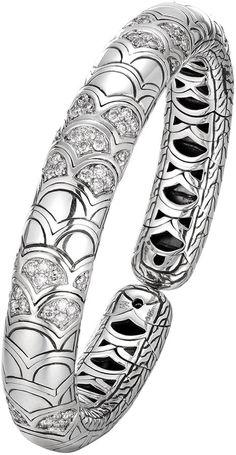 John Hardy Naga Silver Slim Flex Cuff with Diamonds Girls Jewelry Box, Heart Jewelry, Men's Jewelry, John Hardy Jewelry, Jewelry Auctions, Jewelry Website, Sterling Silver Jewelry, Silver Ring, Tiffany Jewelry