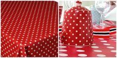 DIY mantel de lunares rojos