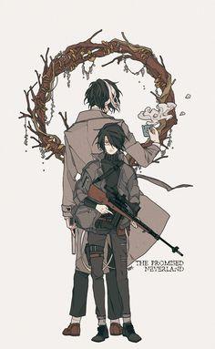 Ray and the bunker man yakusoku no neverland Manga Art, Manga Anime, Anime Art, Fanarts Anime, Anime Characters, Character Art, Character Design, Arte Black, Tamako Love Story
