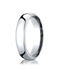 14K White Gold 5.5mm European Comfort-FitTM Benchmark® Wedding Band Ring for Men & Women Size 4 to 15