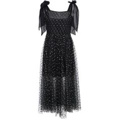 Delfi Collective Elinor Tie Dress ($360) ❤ liked on Polyvore featuring dresses, black, tie dress and semi sheer dress