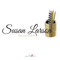 Diseño de logo, logo para bloggera, logo dorado by papelvivodesign on Etsy