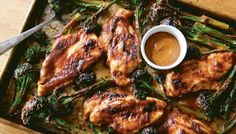 Quick Chicken & Baby Broccoli with Spicy Peanut Sauce | The Splendid Table