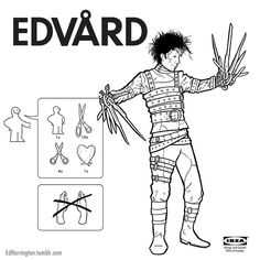 IKEA Instructions for Horror Movie Characters : Edward Scissorhands