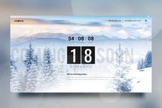 Soon – Animated Flip Clock Coming Soon Countdown Template is Clean, Colorful and Vibrant. We've chosen the bright color palette that arouses only positive Countdown Clock, Countdown Timer, Page Template, Website Template, Templates, Html Layout, Canvas Background, Google Web Font, Social Icons
