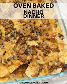 When youre looking for an easy dinner idea that you can make in less than 30 minutes and get tons of flavor this easy baked nachos recipe needs to be on your go-to list! Pork Recipes, Mexican Food Recipes, Italian Recipes, Baking Recipes, Dinner Recipes, Nacho Recipes, Shrimp Recipes, Baked Nachos, Easy Casserole Recipes