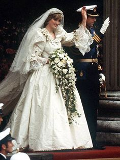 Princess Diana and Prince Charles on their wedding day on July 29, 1981.
