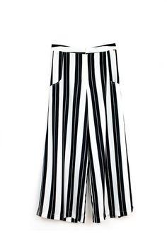 Pantalona Culotte Listrada