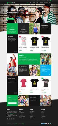 JM Sport sShop Theme by CreAtive Web Themes, via Behance