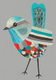 Love this little birdie. Looks like Collage art. (Sorry, no credits came with this Pin.)