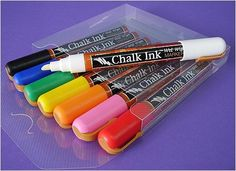 Erasable chalk to use on Old Window sign.