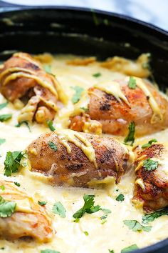 Tender chicken cooked in a skillet so it's crispy on the outside and juicy on the inside, served in an amazing honey dijon mustard sauce - all made in one pan!   Creme de la Crumb
